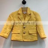 Single-breasted kids fancy jacket toddle boys suit blazer