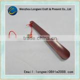 2016 custom spray painted long wooden shoe horn with string                                                                         Quality Choice