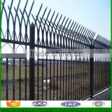 Star Picket Steel Fence/Powder Coating Black Fence For Sale/Wrought Iron Fence