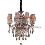 Hot new products for 2015 alibaba express brass crystal pendant lighting withe lamp shade
