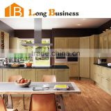 LB-DD1167 Waterproof and custom made solid wood melamine faced particleboard kitchen cabinets