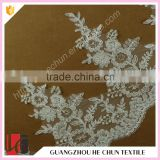 HC-2435-1 Hechun Crochet Bead Embroidered Tulle Thin Lace Bridal Trim