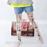 3d sublimation patterned school baby girl cotton pantyhose tights                                                                         Quality Choice