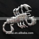 Auto decoration 3D Diamond scorpion motorcycle adhesive animated metal car stickers Decals