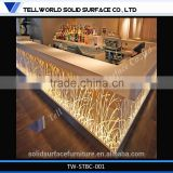 Artificial Stone Solid Surface Led Bar Counter Designs For Coffee Shop,Commercial Bar Counters Stainless,Dining Bar Counter