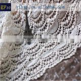 2014 fashion new swiss cotton lace/ scalloped lace fabric/ white french fabric alencon lace for dancing dresses