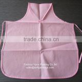 reusable kitchen apron cooking apron, promotional non woven apron, hot sale high quality pink color apron
