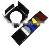 CONONMK color barndoor with honey comb & color filters set photography Accessory phtography pricing