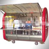 Convenient new style Stainless Steel Mobile Street Food Vending Cart/Kiosk for sale with kitchen