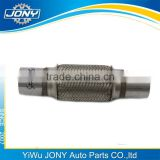 High quality double braided flexible exhaust/exhaust flexible hose/stainless flexible exhaust pipe