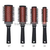 Ceramic round hair brush soft bristle hair brush boar mixing nylon nano ceramic brush