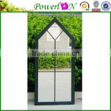 Sale Antique Design House Shape Wrought Iron Frame Mirror For Home Courtyard Garden J15M TS05 X11PL08-80228