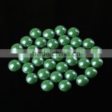 factory selling 8mm light green color oil painting ceramic beads with glue garment accessory for africa market
