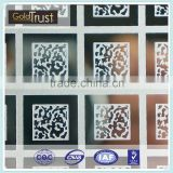 sus 304supper mirror/no.8 etching finish stainless steel perforated sheet for wall panel