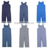 Wholesale 100% cotton toddler clothes boy girl striped pants romper boutique summer infant wear kids bodysuit cotton baby romper
