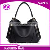 Fashion wholesale lady leather bag genuine leather handbag for shopping
