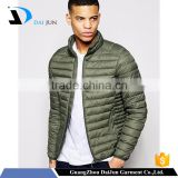 Daijun oem high quality green colour 100%nylon customize jacket men winter soft shell jacket padded jacket