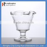 LongRun stemware clear footed dessert dish ice decorate ice cream cups ,transparent ,made in china ,set of six