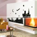 City night decoration luminous stickers wall home living room bedroom TV background decals glow in the dark wallpaper ABQ9601