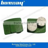 China manufacture supply redi-lock concrete floor grinding pads With 2 round segments