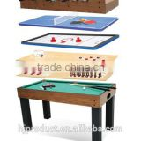 Factory promotion 12 in 1 Multifunctional game table. Billiard table, shuffle board, bowling, poker card, chess, etc