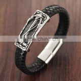 New Arrival Fashion Stainless Steel Bracelet Jewelry Leather Magnet Bangle