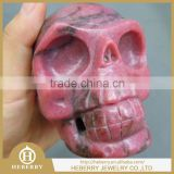Natural and good quality gem stone carving skull, colorful skull heads,rock crystal skull carving
