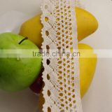 wholesale5.5cm make-to-order garment accessories african white crochet beige lace 550201