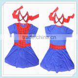Baby girls Halloween cosplay costume new arrival spiderman costume for kids cosplay costumes/clothes with mask