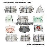 Low price fishing folding wire mesh crab trap