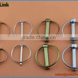 Zinc plating safety linch pin lynch pins