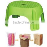 plastic kid's stool unfolding