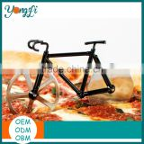 2016 New Pizza Gadgets Tools Bike Cutter Bicycle Stainless Steel Pizza Cutter Wheel