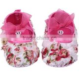 Newborn Cartoon Princess Baby Girls Toddler Rose Shoes