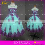 ED Bridal Factory Made Beade Lace Appliqued Tulle Flower Girl Dress 2017