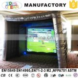 New design Inflatable Particular Gaming Booth With Virtual Screen For Entertainment Activities