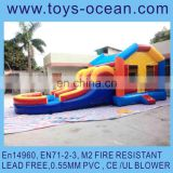 inflatable jumps with water slide ,bouncer combo with water pool , bounce house with pool