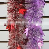 Tinsel christmas garland tinsel flower garland PVC/PET -Star