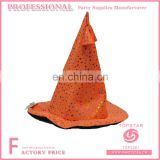 Orange sims 3 silhouette witch hat flashing star pattern decorated for festival