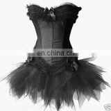 black and lace corset tutu dress