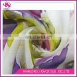 Silk Georgette Fabric Bouquet Painting Digital Print Silk Fabric for Dress Colorful Fabric Silk