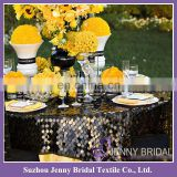 TL018A Large round sequin table overlay black