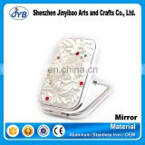 hot sale handheld double sided mirror couple pocket mirror