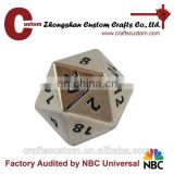 Custom 20 sided metal RPG large blank dice