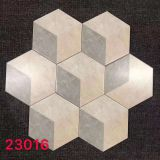 Triple Colors Patchwork 8x9\'\' Hexagon Bathroom Floor Tile