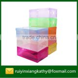 Household decorative PP clear shoe packaging box with handle                                                                         Quality Choice