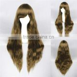 High Quality 70cm Long Curly Color Mixed Synthetic Fashion Lolita Wig Cosplay Costume Lolita Hair Wig Party Wig