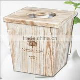 nutural wooden Ricer storage barrels wood cereal boxes
