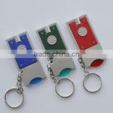 plastic Led Keychain Flashlight With Coin Holder