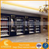 Good showcse for commercial shop decoration,wine rack cabinet mdf wine display showcase for store